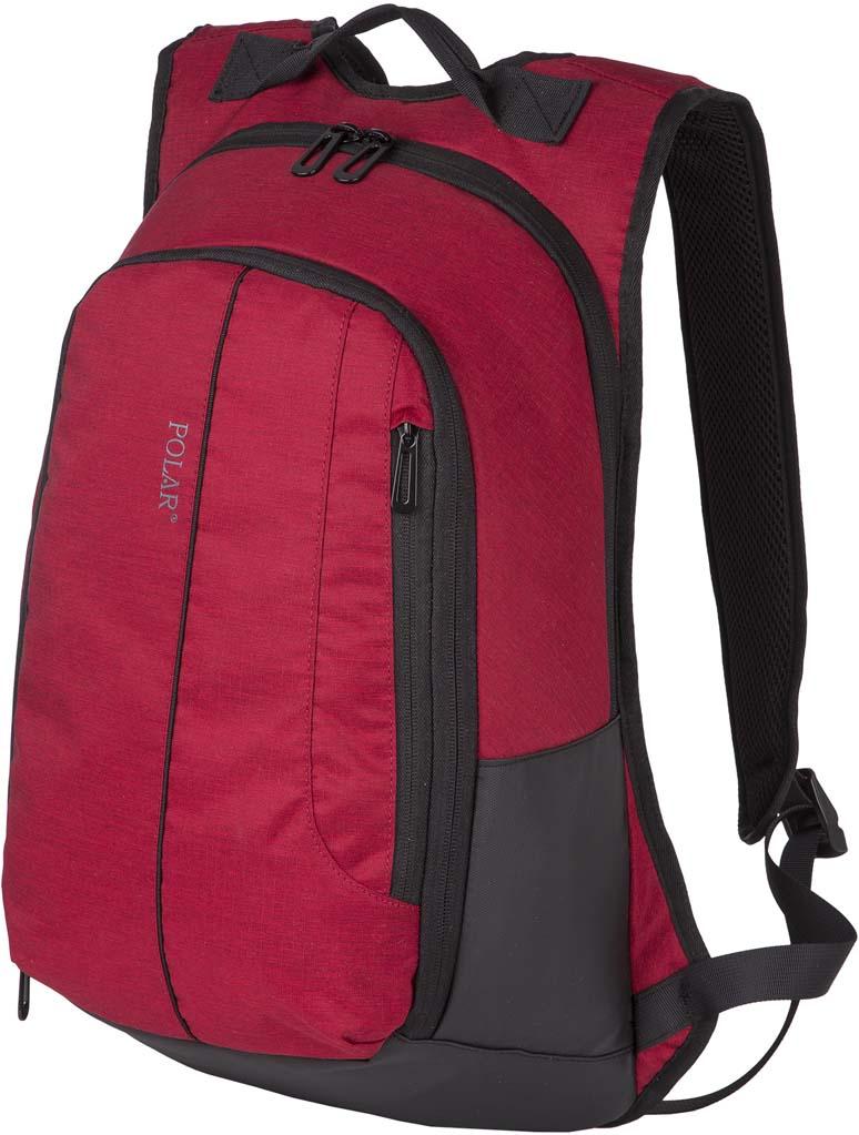 Рюкзак городской Polar, цвет: бордовый, 21 л. К9072 рюкзак polar polar po001burvn31