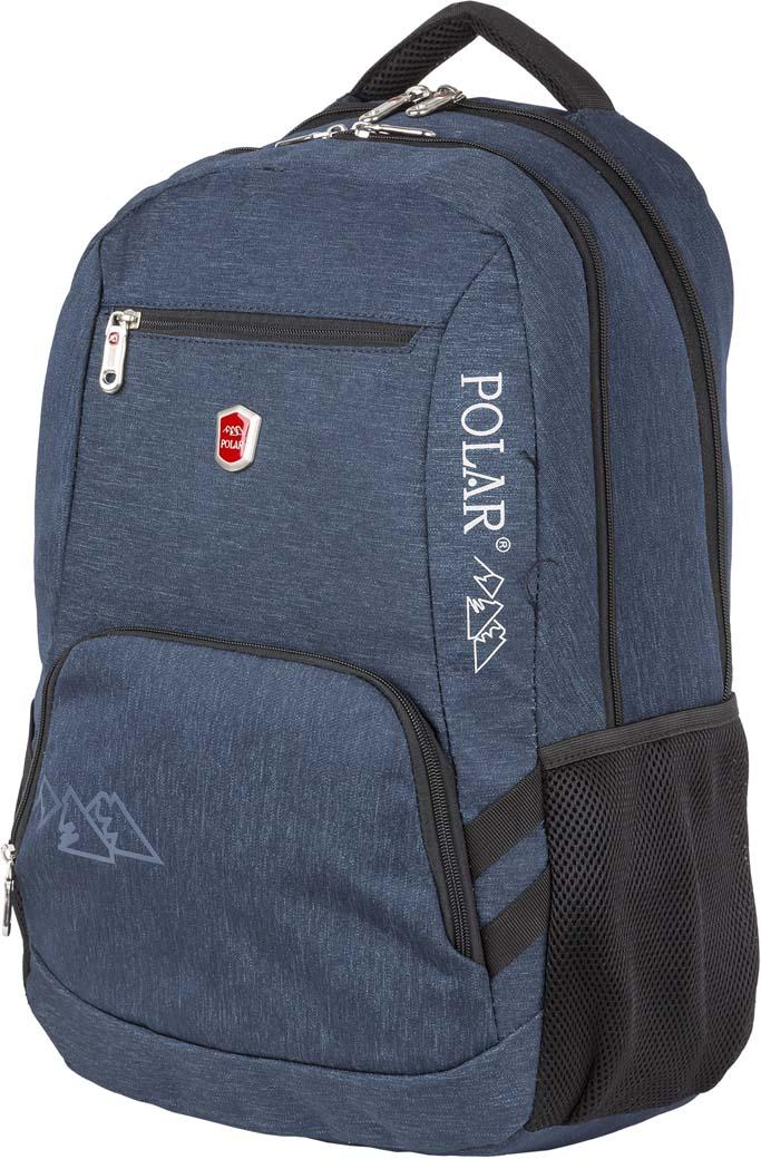 Рюкзак городской Polar, цвет: синий, 21 л. П5104-04П5104-04Городской рюкзак Polar.Характеристики:Два объемных основных отделения с карманами для канцелярии и ноутбука.Два передних кармана карманами для канцелярии.Два боковых кармана из сетки.