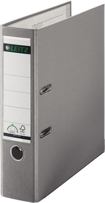 Leitz Папка-регистратор 180° обложка 80 мм цвет серый -  Папки