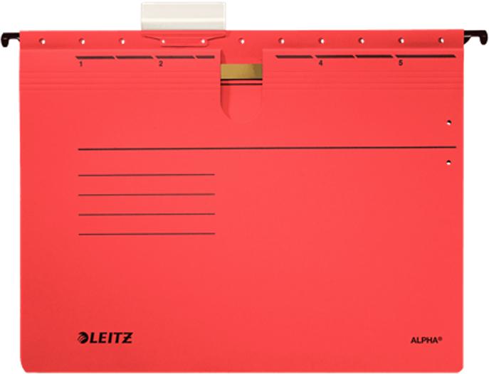Leitz Скоросшиватель подвесной Alpha формат A4+ цвет красный кассета leitz k12 со скобами 26 12 для степлера 5551 и 5550 55940000