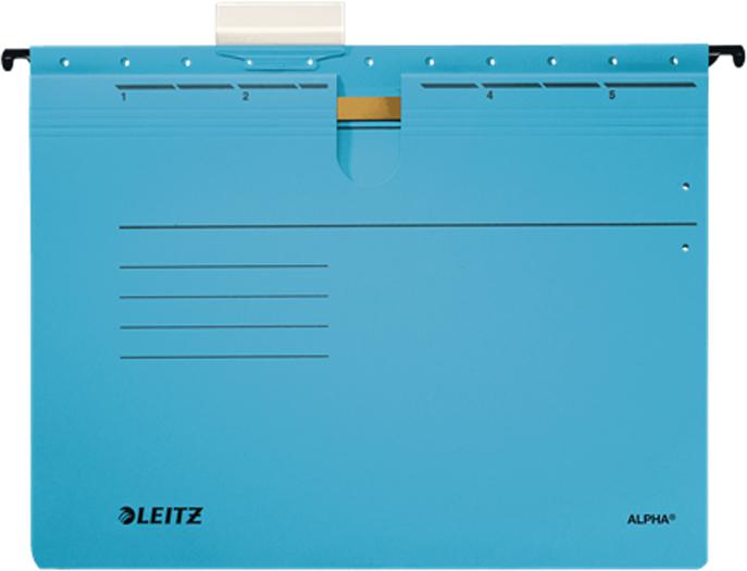 Leitz Скоросшиватель подвесной Alpha формат A4+ цвет синий папка подвесная esselte leitz alpha 19840135 a4 картон синий со скоросшив