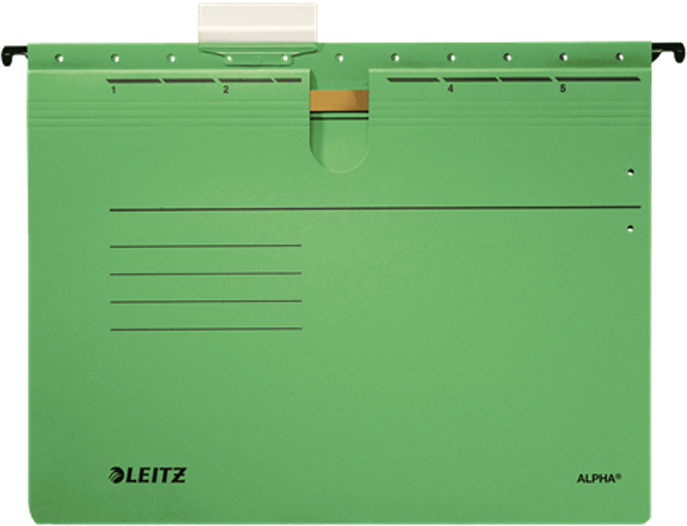 Leitz Скоросшиватель подвесной Alpha формат A4+ цвет зеленый кассета leitz k12 со скобами 26 12 для степлера 5551 и 5550 55940000