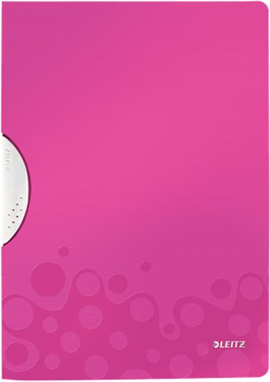 Leitz Папка с клипом WOW цвет розовый -  Папки