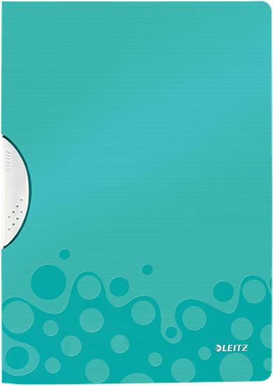 Leitz Папка с клипом WOW цвет бирюзовый -  Папки