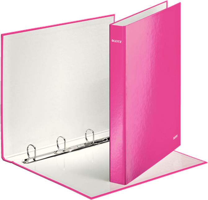 Leitz Папка на кольцах WOW 4DR обложка 25 мм цвет розовый