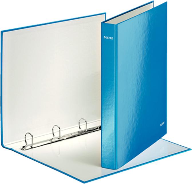 Leitz Папка на кольцах WOW 4DR обложка 25 мм цвет голубой
