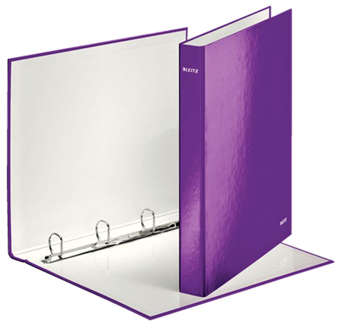Leitz Папка на кольцах WOW 4DR обложка 25 мм цвет фиолетовый -  Папки