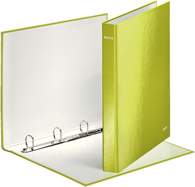Leitz Папка на кольцах WOW 4DR обложка 25 мм цвет зеленый