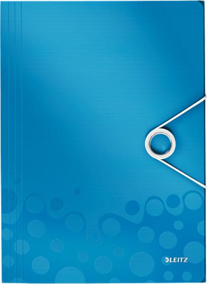 Leitz Папка на резинке WOW цвет синий папка на резинке proff next ширина корешка 40 мм цвет синий формат а4