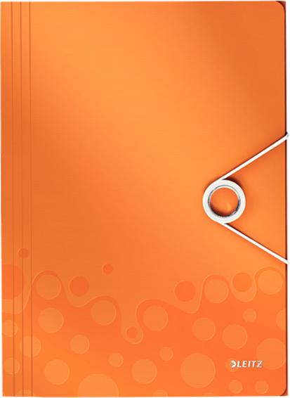 Leitz Папка на резинке WOW цвет оранжевый -  Папки