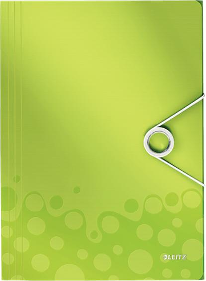 Leitz Папка на резинке WOW цвет зеленый -  Папки