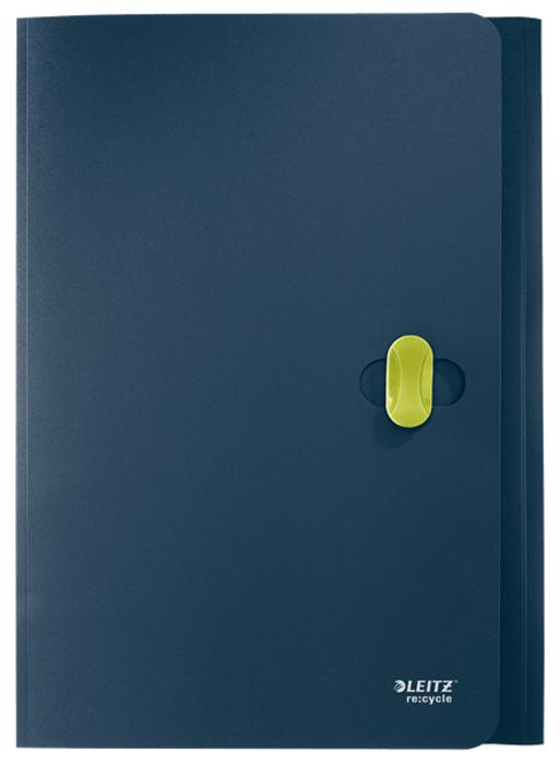 Leitz Папка с зажимами ReCycle цвет темно-синий