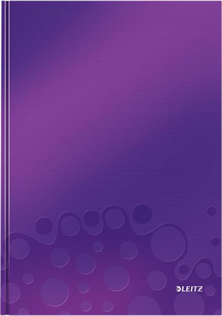 Leitz Блокнот WOW формат A4 80 листов в клетку твердый переплет цвет фиолетовый