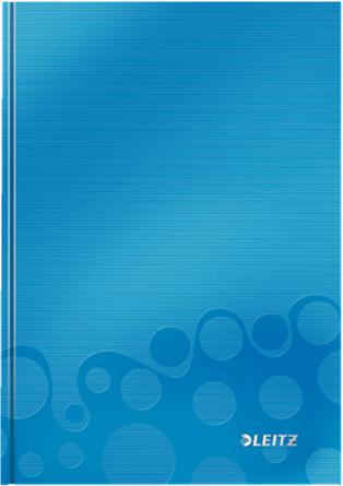 Leitz Блокнот WOW формат A5 80 листов в клетку твердый переплет цвет голубой kogankids kogankids лонгслив wow голубой
