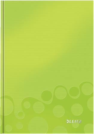 Leitz Блокнот WOW формат A5 80 листов в клетку твердый переплет цвет зеленый цена