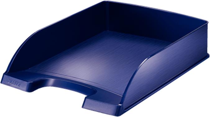 Leitz Лоток для бумаг Style горизонтальный цвет синий титан