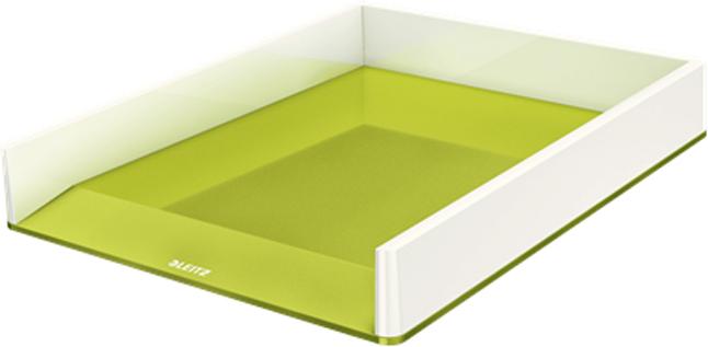 Leitz Лоток для бумаг WOW горизонтальный цвет зеленый белый53611064Привлекательный двухцветный лоток премиум-качества Leitz в ярком и стильном цвете с оттенком металлик с глянцевым покрытием . Этот прочный лоток идеально дополняет другие товары из серии Leitz WOW.