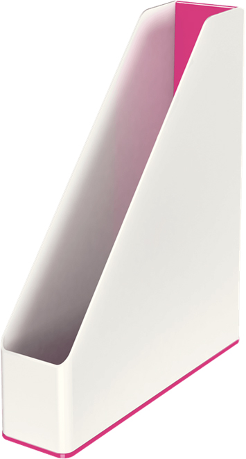Leitz Лоток для бумаг WOW вертикальный цвет розовый белый товары для дома