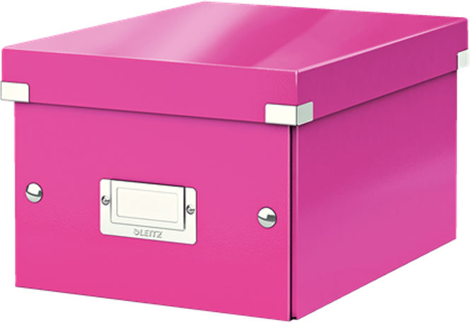 Leitz Короб архивный Click-n-Store размер S (A5) цвет розовый