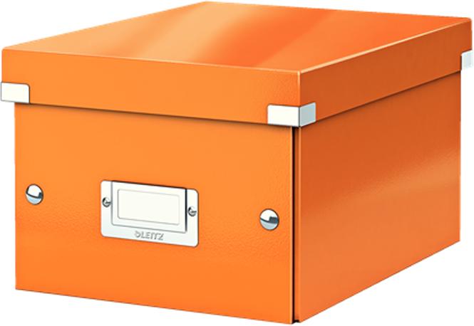 Leitz Короб архивный Click-n-Store размер S (A5) цвет оранжевый
