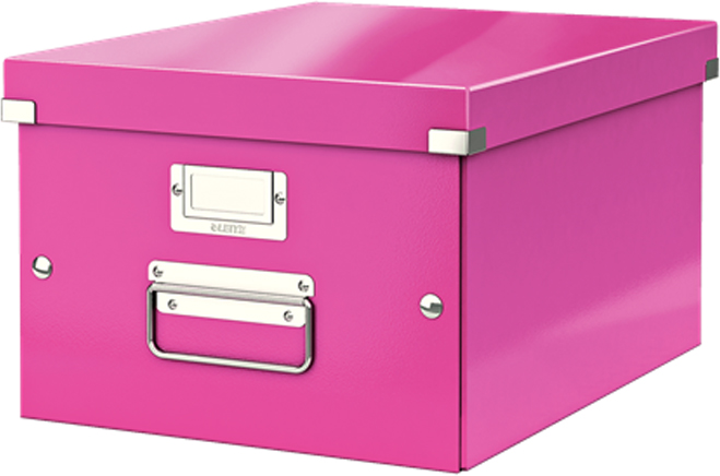 Leitz Короб архивный Click-n-Store размер M (A4) цвет розовый короб для вытяжек aeg k8004 m