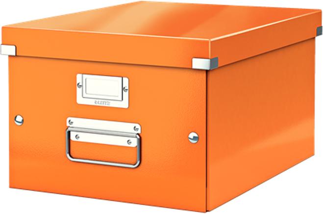 Leitz Короб архивный Click-n-Store размер M (A4) цвет оранжевый короб для вытяжек aeg k8004 m
