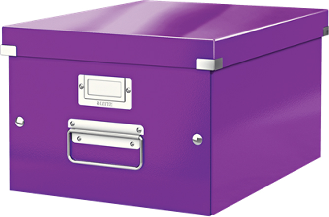 Leitz Короб архивный Click-n-Store размер M (A4) цвет фиолетовый короб для хранения размер m denise
