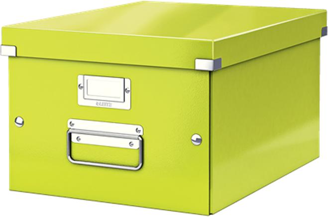 Leitz Короб архивный Click-n-Store размер M (A4) цвет зеленый