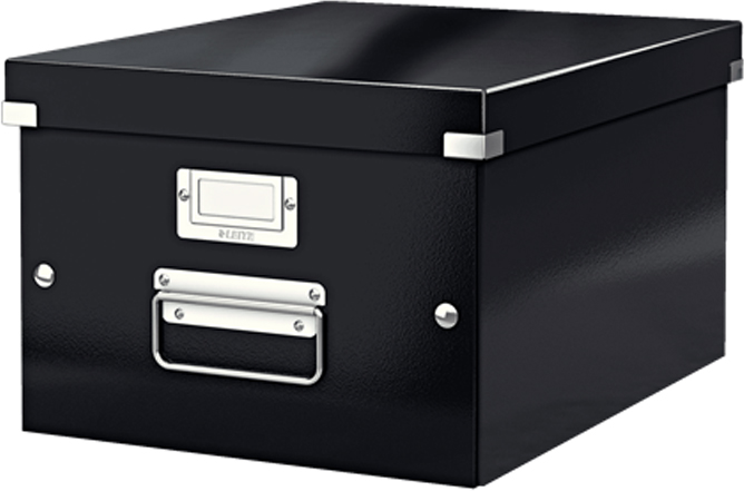 Leitz Короб архивный Click-n-Store размер M (A4) цвет черный