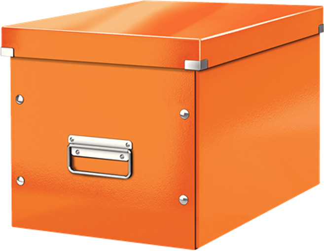 Leitz Короб архивный Click-n-Store размер L цвет оранжевый короб для хранения размер l denise