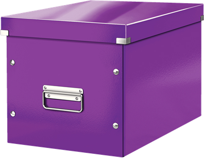 Leitz Короб архивный Click-n-Store размер L цвет фиолетовый короб для хранения размер l denise