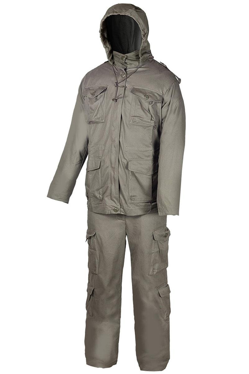 Костюм рыболовный мужской Huntsman Крафт, цвет: хаки. krc_100-521. Размер 44/46 костюм huntsman арктика тк nylon taslan со снегозащитными гетрами ark 100 976 серый черный
