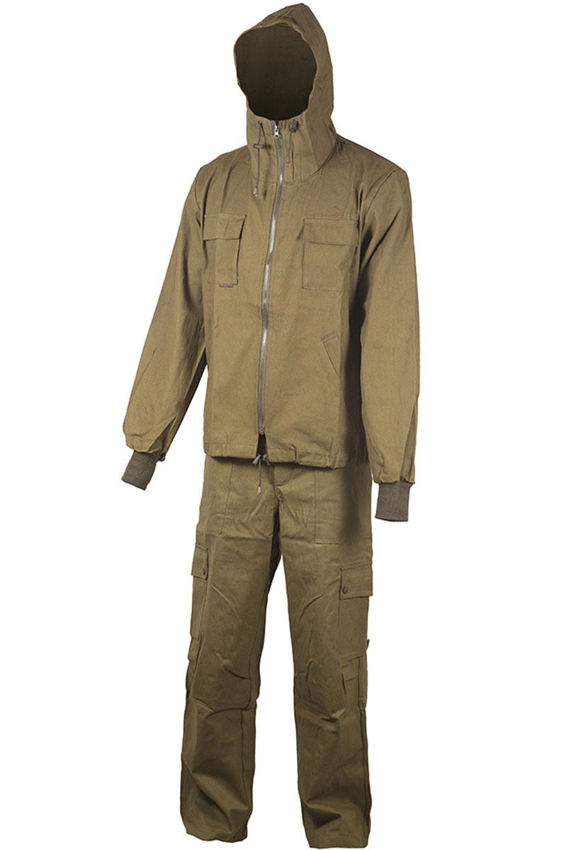 Костюм рыболовный мужской Huntsman Тайга-3, цвет: хаки. t_100_p-521. Размер 44/46