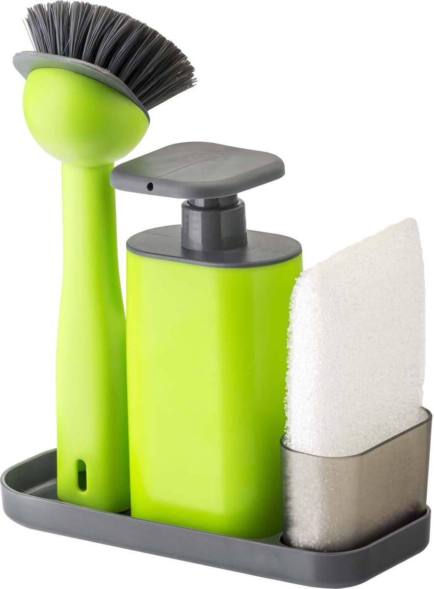 Набор для мытья посуды Vigar Rengo, цвет: зеленый, 3 предмета