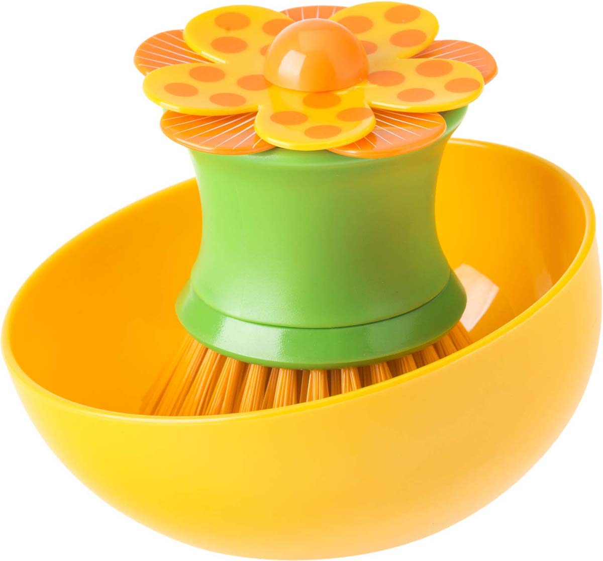 Щетка для посуды Vigar Lolaflor, цвет: желтый