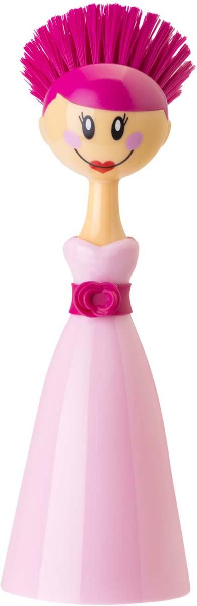 Щетка для посуды Vigar Dolls, цвет: розовый
