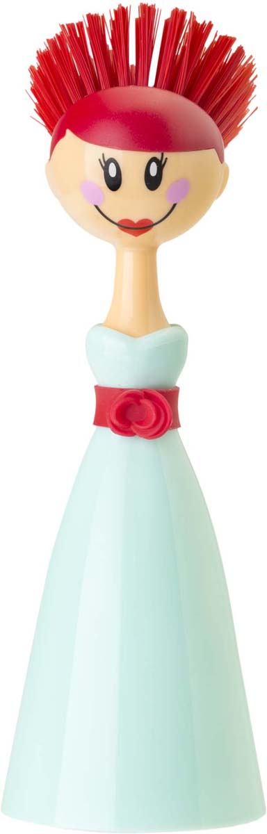 Щетка для посуды Vigar Dolls, цвет: бирюзовый