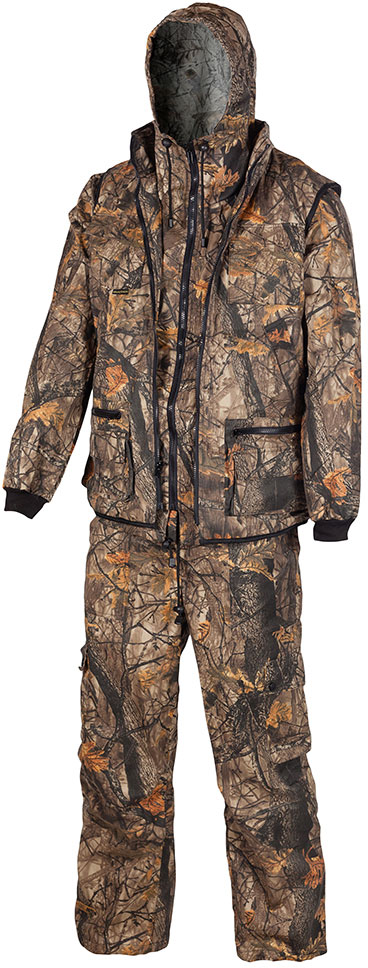 Костюм рыболовный мужской Huntsman Тайга-3, цвет: темный лес. t_100_sm-702. Размер 44/46