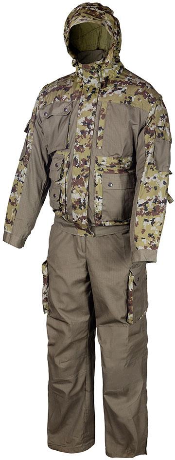 Костюм рыболовный мужской Huntsman Зверобой, цвет: хаки. zv_100_sm-242. Размер 44/46 2014 летний костюм альтернативных не мейнстримовых мужской ночной клуб высокий воротник личности корейский стилисты имеют размер
