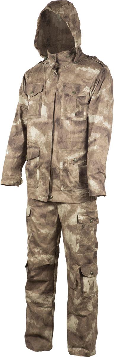 Костюм рыболовный мужской Huntsman Крафт, цвет: туман. krc_100-018. Размер 44/46