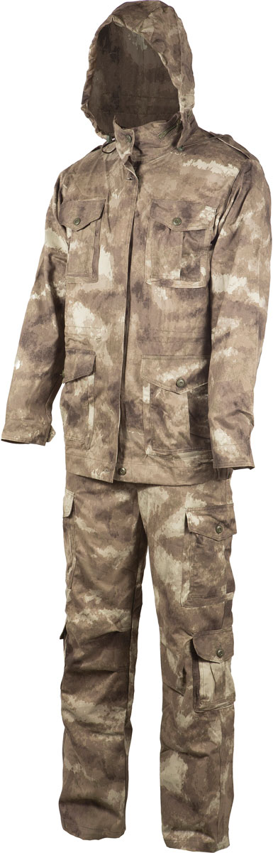 Костюм рыболовный мужской Huntsman Крафт, цвет: туман. krc_100-018. Размер 44/46 костюм huntsman арктика тк nylon taslan со снегозащитными гетрами ark 100 976 серый черный