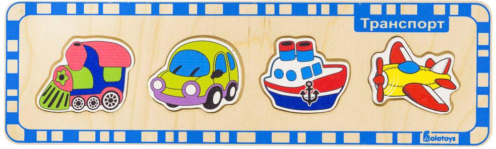 Alatoys Пазл Транспорт ПЗЛ1007 деревянные игрушки alatoys пазлы лошадки