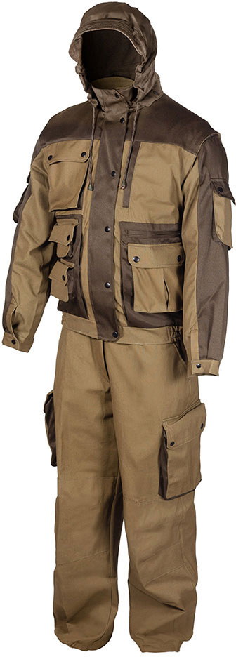 Костюм рыболовный мужской Huntsman Зверобой, цвет: хаки. zv_100_p-521. Размер 44/46 2014 летний костюм альтернативных не мейнстримовых мужской ночной клуб высокий воротник личности корейский стилисты имеют размер