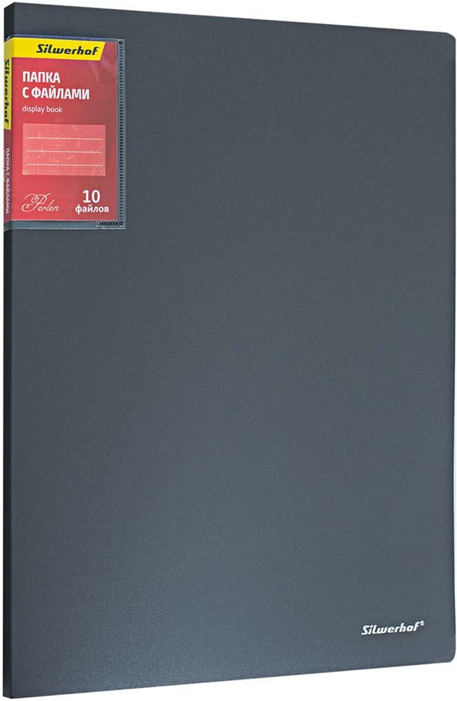 SilwerhofПапка Perlen с 10 вкладышами A4 цвет серый металлик Silwerhof