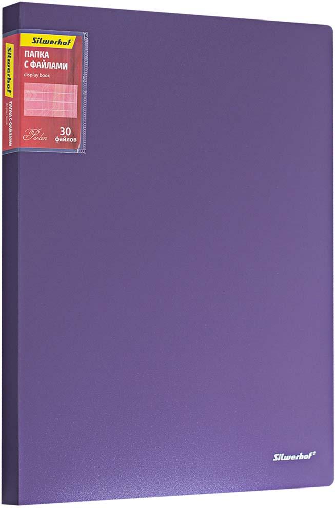 Silwerhof Папка Perlen с 30 вкладышами A4 цвет сиреневый