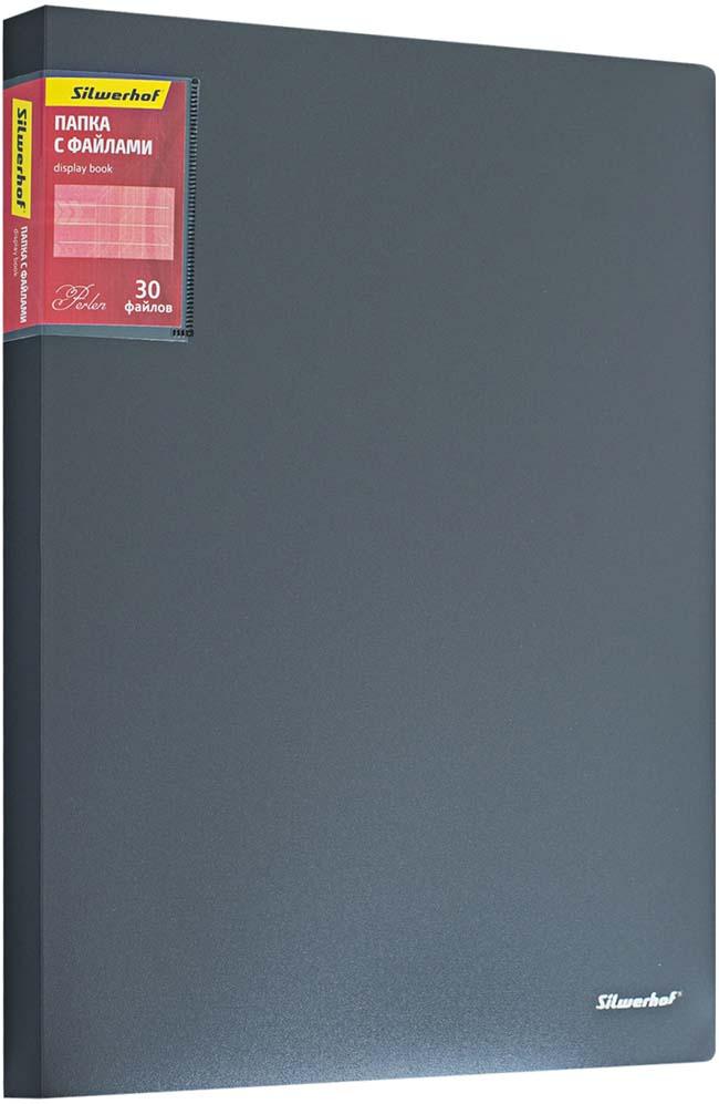 Silwerhof Папка Perlen с 30 вкладышами A4 цвет серый металлик бюстгальтер с вкладышами sadie