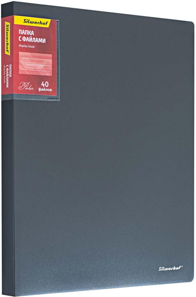 Silwerhof Папка Perlen с 40 вкладышами A4 цвет серый металлик