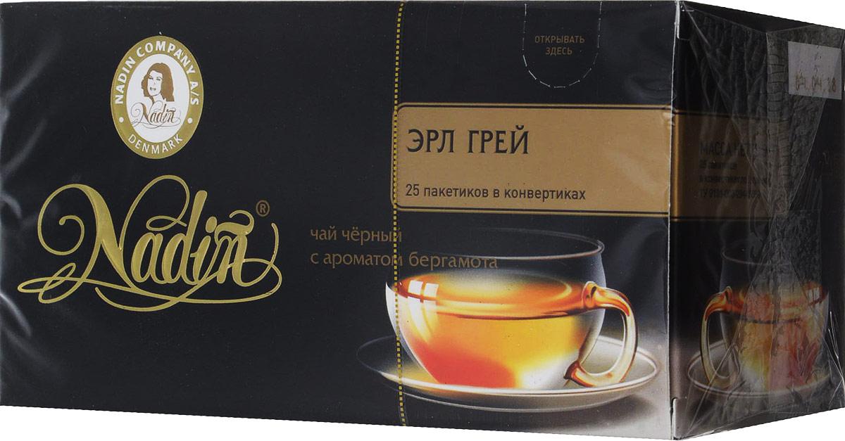 цены Nadin Эрл Грей чай пакетированный, 25 шт