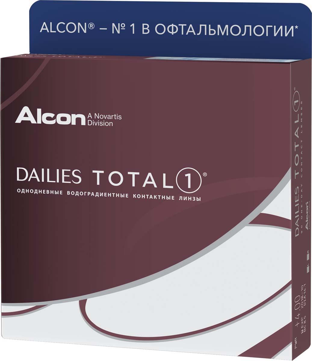 Аlcon Контактные линзы Dailies Total 90 шт /+1.25 /8.5 /14.1 аlcon контактные линзы dailies total 90 шт 4 75 8 5 14 1