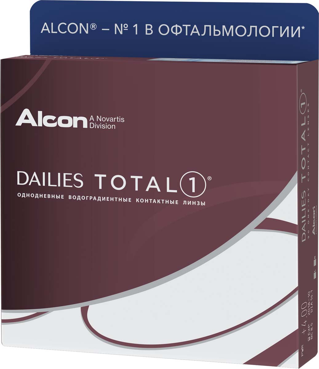 Аlcon Контактные линзы Dailies Total 90 шт /+3.25 /8.5 /14.1